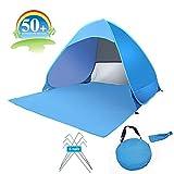 UMSKY Portable Automatique Pop Up Tente de Plage, 2-3 Personnes UV Protect Tente abri du Soleil.