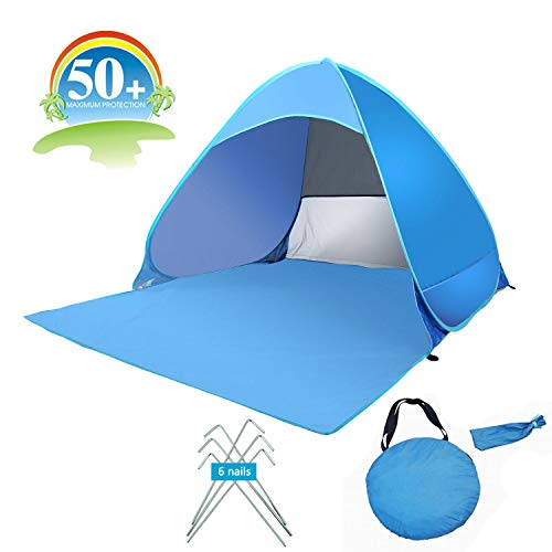 umsky Portable Automatique Pop Up Tente de Plage, 2-3 Personnes UV Protect Tente abri du Soleil.
