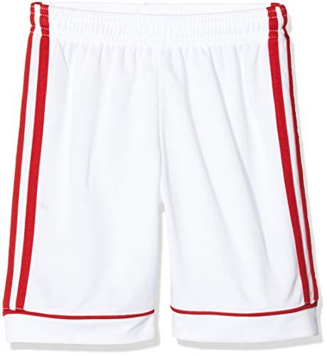 adidas Squad 17 Sho, Pantaloncini Uomo, Bianco/Power Rosso, 164