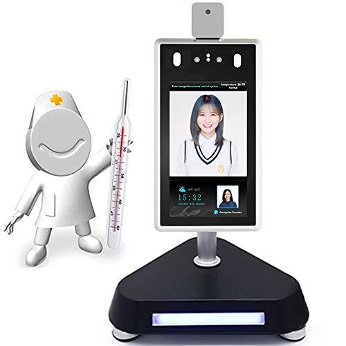 GODLV 20,3 cm Gesichtserkennung Infrarot Thermische Bildtemperatur Erkennung biometrisches Gerät Zugangskontrollsystem für Eingang und Ausgang