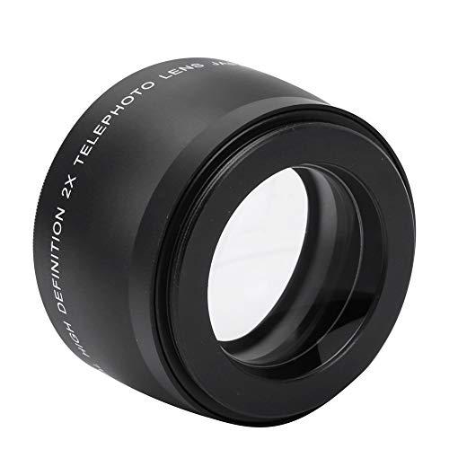 Lente telefoto de diseño exquisito Lente convertidor de lente de conversión telefoto profesional 2X, para cámara con rosca de lente de 55 mm