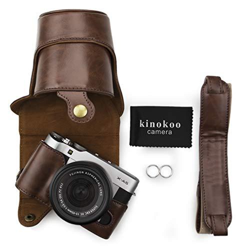 Kinokoo, custodia in similpelle con tracolla per fotocamera Fujifilm X-A3, Fujifilm X-A10 e per obiettivi da 16a 50 mm, con tracolla e panno di pulizia