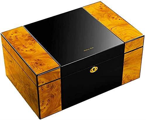 La Caja de Puros Puede Contener 150 Puros Deshumidificador refrigerado de Doble Capa de Gran Capacidad Gabinete de Humo silencioso Caja Decorativa de Regalo para Hombres (Color: Color, Tamaño: 37 *