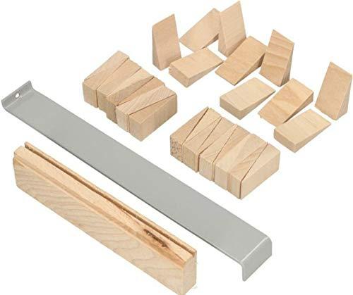 KOTARBAU® Laminat Verlegeset 32tlg. Set Parkett Laminat aus Holz Montagekeile Zugeisen Schlagleiste Holzkeile Laminatverlegen Parkettverlegen Top-Qualität