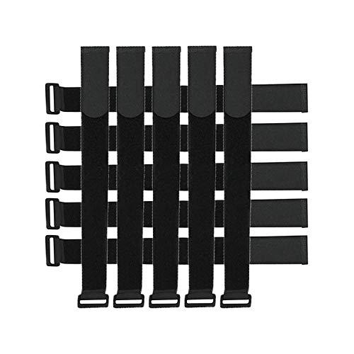 CZ Store® - brida para cable de velcro 10: MEDIDA 45CM|✮✮GARANTÍA DE POR VIDA✮✮-brida de velcro multitamaño con gancho y abrazadera para para TV/ordenador/guitarra