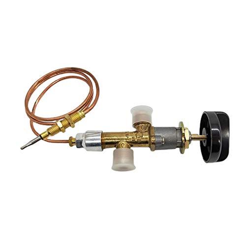 LOVIVER Kit Valvola di Controllo di Sicurezza per Gas Propano a Bassa Pressione con Termocoppia E Manopola per Scaldabagno a Gas per Scaldabagno