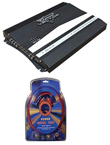 LANZAR VCT4110 2000W 4-Channel High Power Car Audio Amplifier + 4 Gauge Amp Kit
