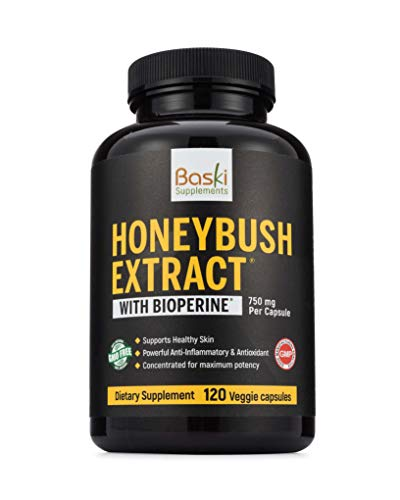 Baski Supplements Natural Honeybush Extract Pill Treatment for Acne, Eczema, Psoriasis, Rosacea Relief - Vitamin Remedy Reduces Skin Inflammation and Redness