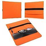 NAUC Für Lenovo E31-70 Tasche Hülle Filz Sleeve Schutzhülle Case Cover Bag, Farben:Orange