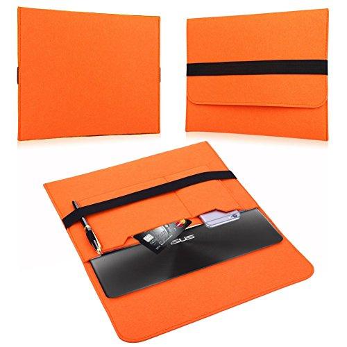 NAUC Für Lenovo E31-70 Tasche Hülle Filz Sleeve Schutzhülle Hülle Cover Bag, Farben:Orange