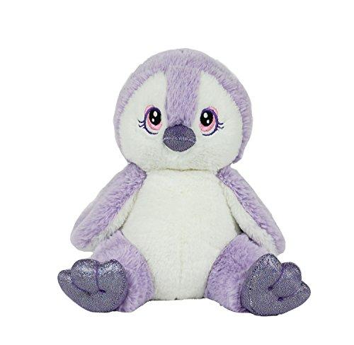 BEAREGARDS.COM Personal Recordable Talking Teddy Bear / Baby Heartbeat 8' Purple Penguin with 20 sec Digital Recorder
