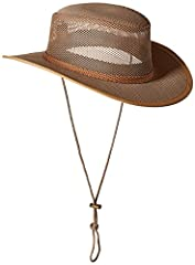 "MEN'S SAFARI HAT- The outdoors brings heat, and humidity brings insects. Protect yourself from it all with a mesh sidewall and a 2¾"" bound brim with a chin cord. Keep cool even when the weather isn't. NO-FLY NYLON – This mesh-covered sun hat is made ..."