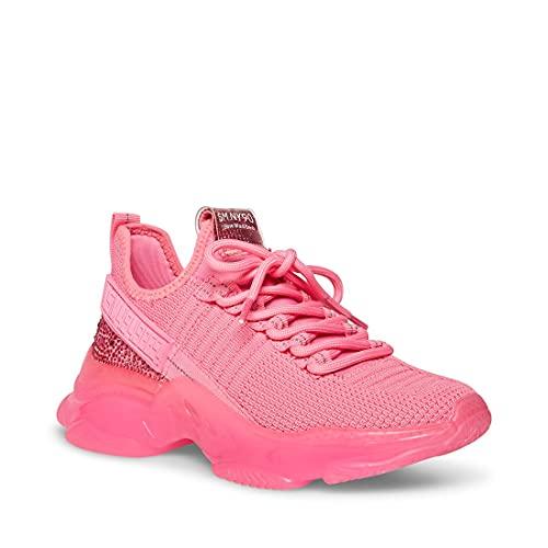 Steve Madden Women's Maxima Sneaker, Hot Pink, 8.5