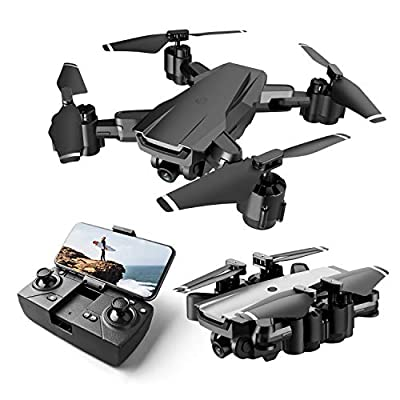 Drone for Beginner with 1080P HD FPV Camera, Foldable RC Quarcopter for Kids with Altitude Hold, Headless Mode, One Key Start, 3D Flips, 2 Modular Batteries, Gifts Toys for Boys Girls from Rolytoy Vraijouet