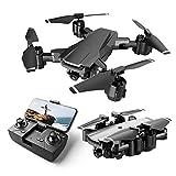 Rolytoy VraiJouet Drone con Telecamera 1080P, Pieghevole FPV Quadricottero con Due Batteria 16-20...