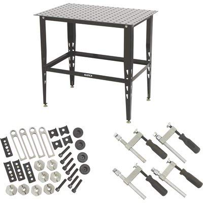 Product Image of the Klutch Steel Welding Table with Tool Kit - 36in.L x 24in.W x 33 1/4in.H
