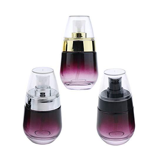 styleinside 3 contenitori da viaggio ricaricabili da 30 ml con coperchio (3 colori)