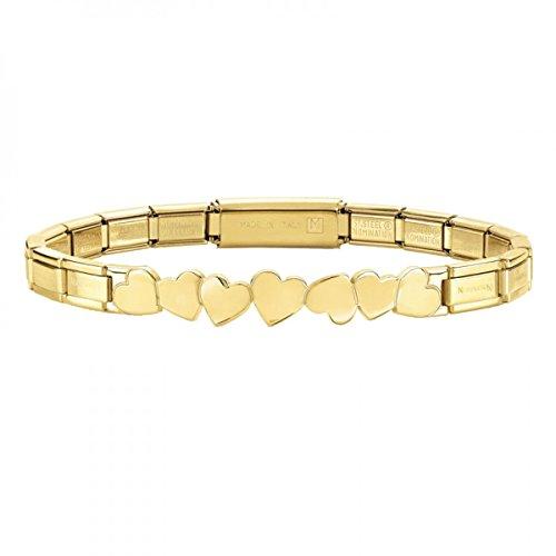 Nomination Damen-Armband Trendsetter Edelstahl 18 cm - 021111/001