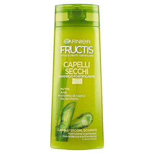 Garnier Fructis 2 in 1 Shampoo Fortificante per Capelli Secchi, 250ml