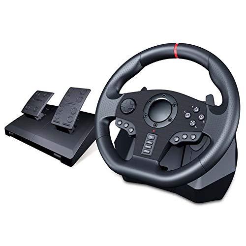 YXwD Spiel Lenkrad, Computer-Rennen PS3 Smart TV Game Controller 900 Grad Rotierende Lenkrad Fahren Spielkontrolleur
