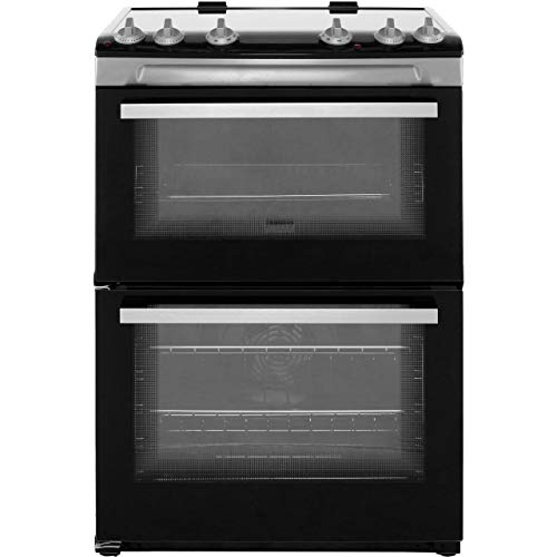 Zanussi ZCI66050XA 60cm Double Oven Electric Cooker With Induction Hob - Stainless Steel