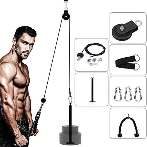 DORSION - Poleas Gimnasio para Casa, brazo, bíceps, tríceps, bláster, cable atado de muñeca, roller, agarre, mano, fuerza y entrenamiento Equipo para el fitness
