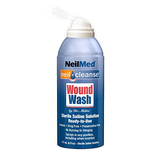 NeilMed Cleanse Sterile Saline Wound Wash, 6 Ounce