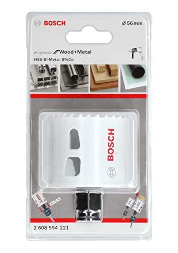Bosch Professional Lochsäge Progressor for Wood & Metal (Holz und Metall, Ø 56 mm, Zubehör Bohrmaschine)