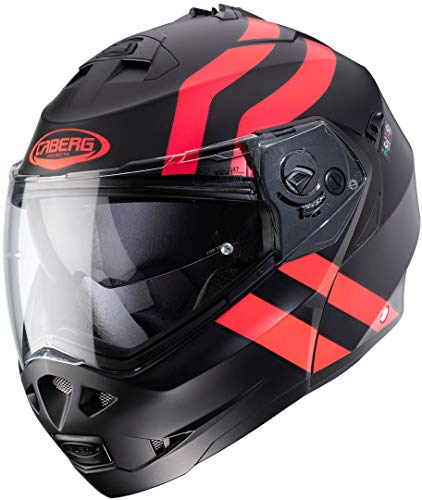 Caberg DUKE II SUPERLEGEND MATT BLACK/RED FLUO XL