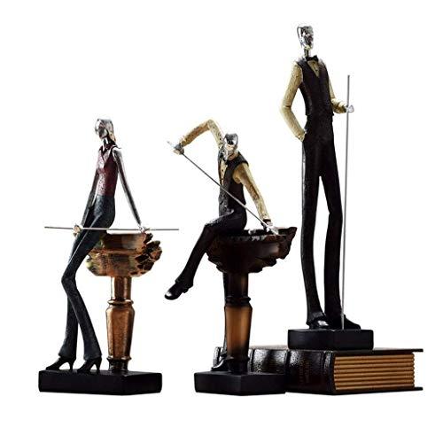 ZLBYB Mouvement Résine Artisanat Série Décoration Caractère Billard Créative Trophée Support Protection de l'environnement Résine Sculpture Produit Maison Salon Arrangement de Bureau Présentoir