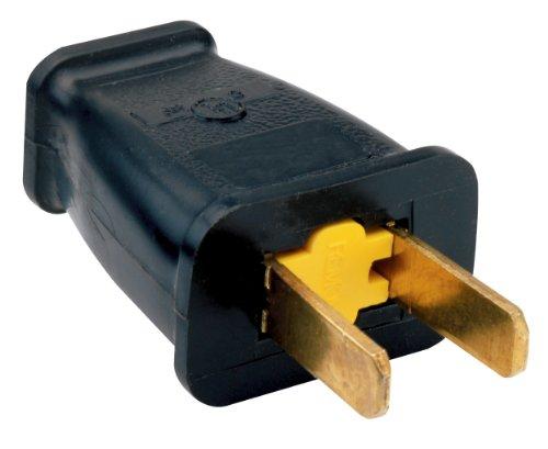 Legrand-Pass & Seymour SA440BKCC10 Residential Non Polarized Plug 15-Amp 125-volt Straight Blade, Black