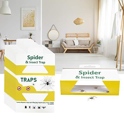 Stingmon 30 Pack Spider Trap, Pest & Insect Glue Boards Traps, Non-Toxic