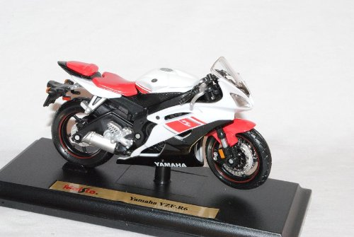 Yamaha Yzf-r6 R 6 Weiss Mit Sockel 1/18 Maisto Modellmotorrad Modell Motorrad