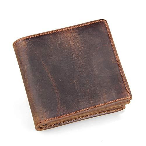 LOTONJT Fashion Men Wallet RFID Blocking Wallet Credit Card Holder Travel Wallet Minimalist Daily Use Valentine's Day Dating Best Gift for Men,Brown
