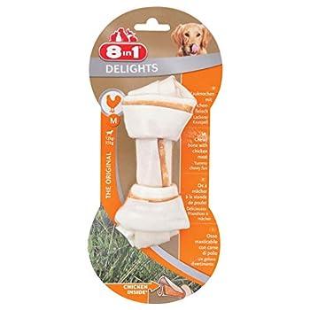 8in1 Delights Chicken Chew Bone M, collation santé à mâcher pour chien de taille moyenne, 1 pièce (65 g)