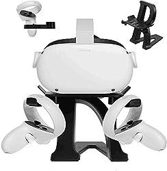 Compatibilidad: compatible con la mayoría de los cascos de realidad virtual de tamaño estándar, incluidos Oculus Quest 2,Oculus Quest, Oculus Rift S, Oculus Rift, Oculus Go, Valve Index, HTC Vive, HTC Vive Pro, etc. Estabilidad confiable: adopte un d...