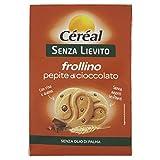 Céréal S/Lievito  201991 Biscotti Pepite Cioccolato - senza Lievito - con Farina di Riso e Farina di Avena - Frollini 250 Gr