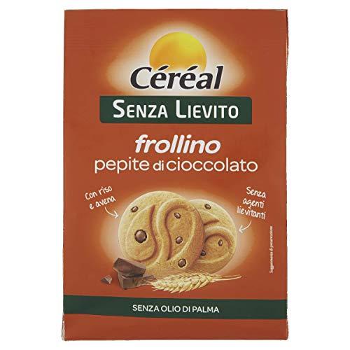 Céréal Biscotti al cioccolato Senza Lievito, con Farina di Riso e Farina di Avena - Frollini con pepite 250 Gr
