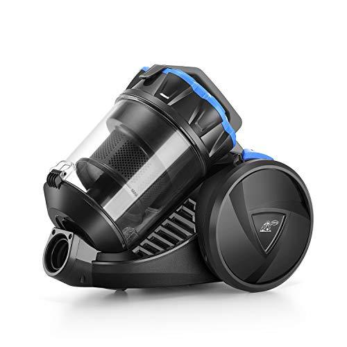 PUPPYOO S7 Mate Aspiradora Multi-Ciclónica Canister Bagless Power Silence 6 Accesorios 17Kpa Negro y Azul