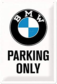 BMW Parking Only Metal Plate 30 x 20 cm