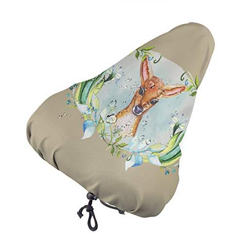 ArtSocket Bike seat Cover Baby Deer Floral Cute Best Bike Covers Outdoor Storage Waterproof