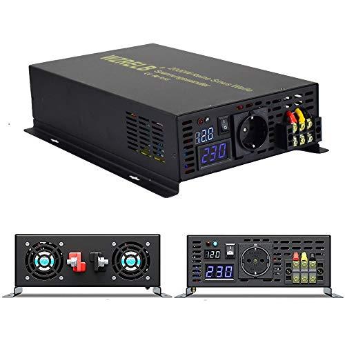 3000W Reiner Sinus Spannungswandler Wechselrichter 12V DC auf AC 230V Inverter Auto Inverter Ersatzstromversorgung für Kühlschränke, Mikrowellen, Kettensägen, Staubsauger, Mixer, Elektrowerkzeuge