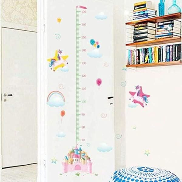 Utopiashi Unicorn Wall Sticker Height Measure Growth Chart Decal For Girl S Room Bedroom