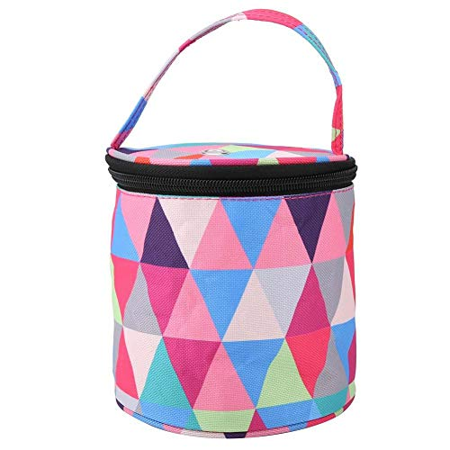 Knitting Bag, Yarn Organizer for All Your Knitting Accessories, Best Yarn Bag/Knitting Bag, Yarn Storage Bag Crochet Tote Bag, High Capacity, Easy to Carry, Prevent Tangling(Multi-Color Round S)