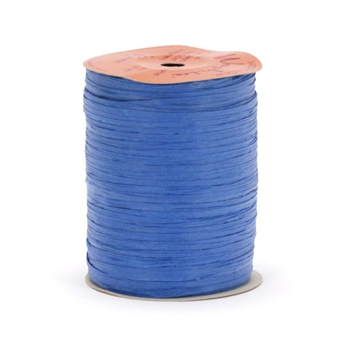 Berwick Offray Matte Royal Blue Raffia Ribbon, 1/4'' Wide, 100 Yards