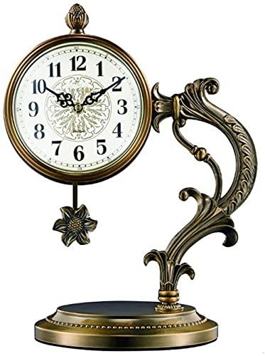 Scultura,Reloj De Escritorio para Sala De Estar / Reloj De Repisa para El Hogar / Reloj De Péndulo De Escritorio / Reloj De Mesa para Dormitorio / Material Metálico Silencioso Reloj De Mesa De 15 4