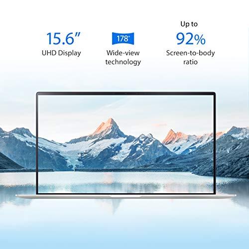 "Product Image 1: ASUS UX534FTC-AS77 ZenBook 15 Laptop, 15.6"" UHD 4K NanoEdge Display, Intel Core i7-10510U, GeForce GTX 1650, 16GB, 512GB PCIe SSD, ScreenPad 2.0, Amazon Alexa Compatible, Windows 10, Icicle Silver"