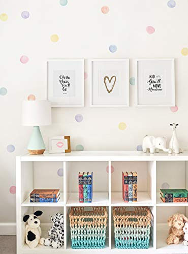 Simple Shapes Watercolor Dots Wall Stickers (Pastel)