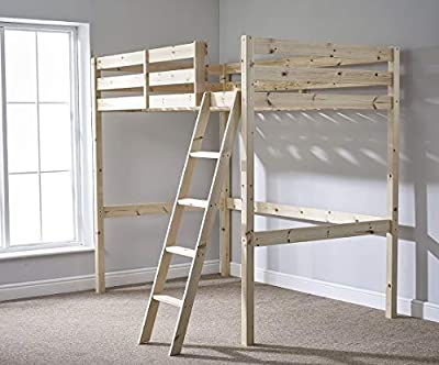 4ft 6 Wooden High Sleeper Loft Bunk Bed