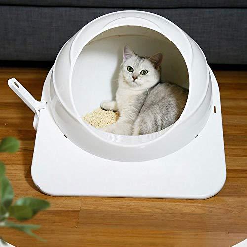liangh Große Toilette Für Katzen,Halb Automatische Katzen Toilette,Haustier-Toilette Aus Kunststoff,53 * 46 * 36 cm.